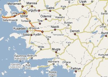 Carte Turquie Kusadasi.Turquie Ephese Cartes
